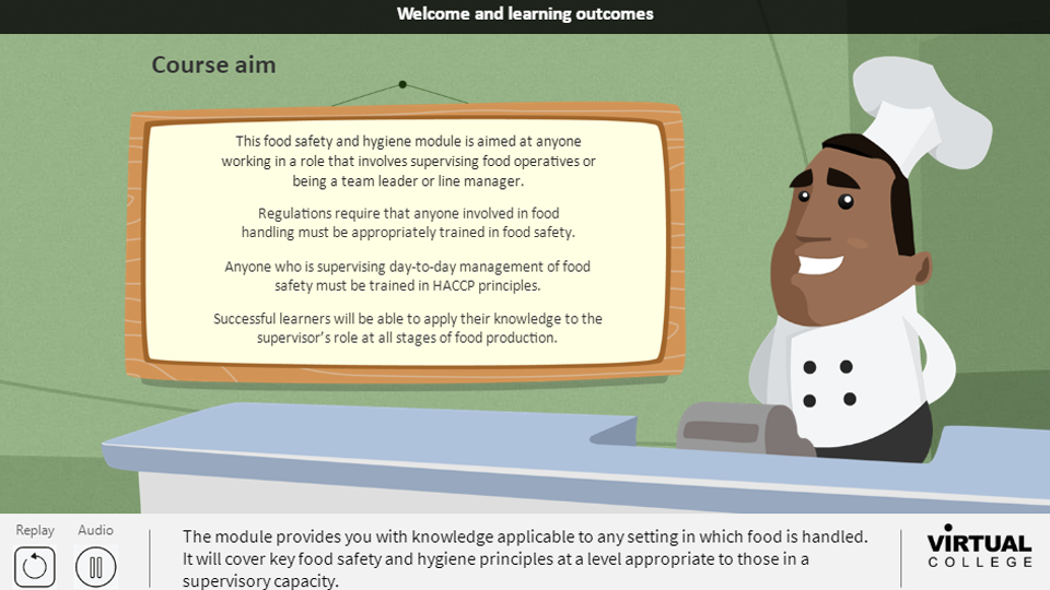 Level 3 Food Safety and Hygiene for Supervisors in Catering