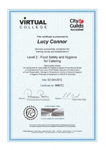 virtual-college-food-hygiene certificate